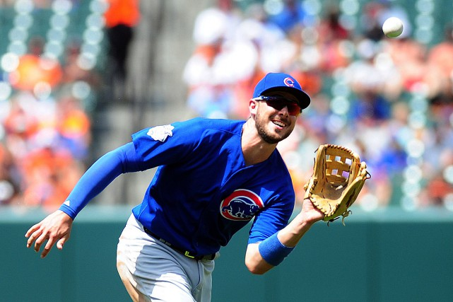 Kris Bryant a subi une entorse à l'auriculaire de... (PHOTO EVAN HABEEB, ARCHIVES USA TODAY)