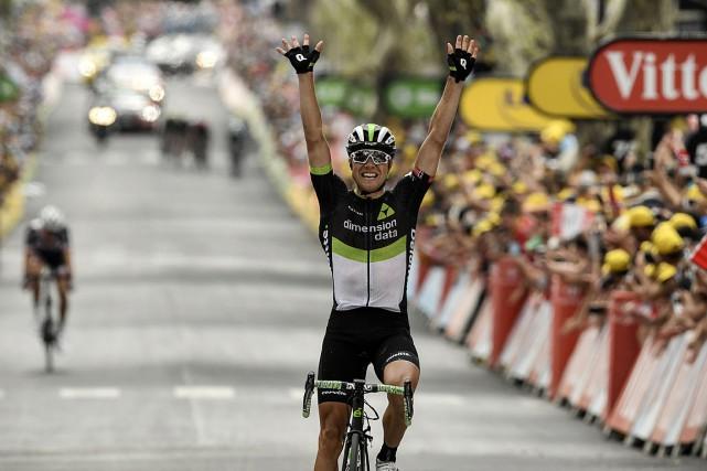 Edvald Boasson Hagena précédé de 5secondes l'Allemand Niklas... (PHOTO PHILIPPE LOPEZ, AGENCE FRANCE-PRESSE)