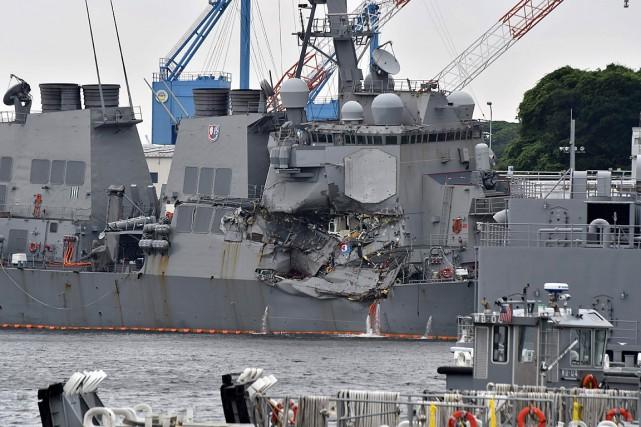 Sept marins ont été tués lors de la... (PHOTO KAZUHIRO NOGI, ARCHIVES AGENCE FRANCE-PRESSE)