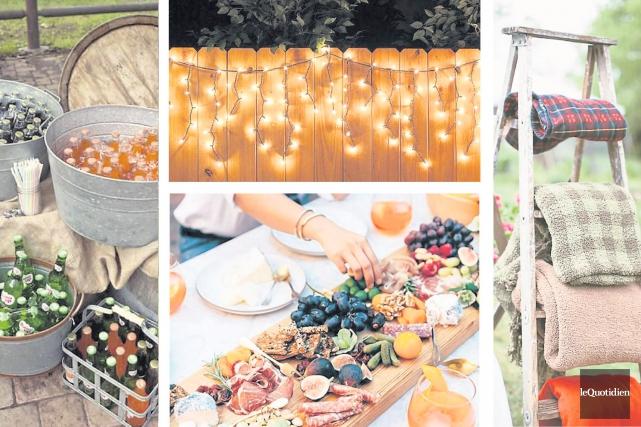 Les Américains appellent ça un «garden party» et il faut avouer que ça sonne... (Photos: Pinterest Photomontage: Le Quotidien)