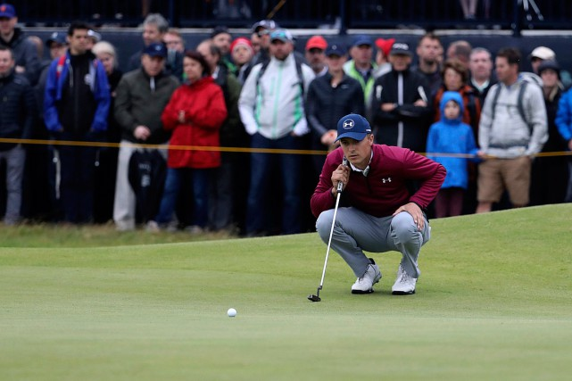 Jordan Spieth détient une avance de deux coups sur... (PHOTO PETER MORRISON, ASSOCIATED PRESS)