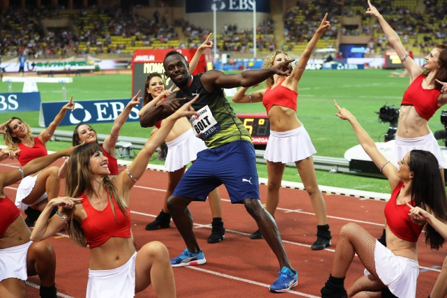 Bolt se retirera de la compétition après les... (Photo AFP)
