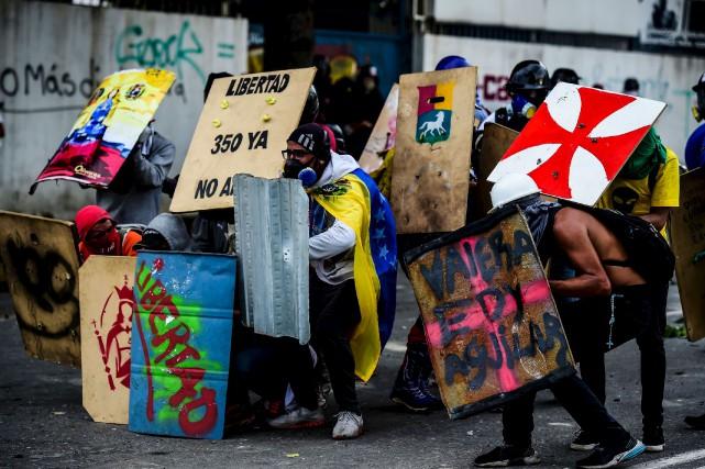 Les manifestations se poursuivent au Venezuela, le cap... (AFP, Ronaldo Schemidt)