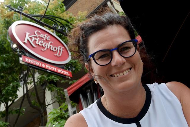 L'actuelle propriétaire du Krieghoff, Kathy Rioux, organise une... (Le Soleil, Erick Labbé)