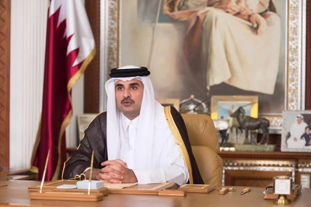 L'émir du Qatar, cheikh Tamim ben Hamad Al-Thani... (PHOTO QATAR NEWS AGENCY/AP)