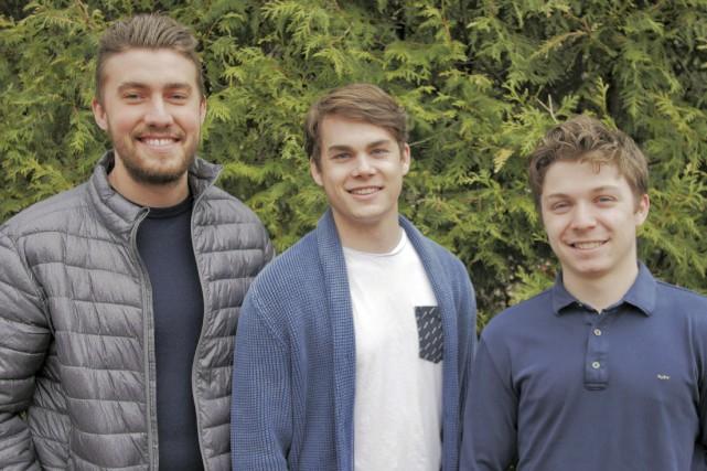 Les trois fondateurs de Vibestar, Louis-Mathieu Roy, Frédérick... (fournie par Vibestar)
