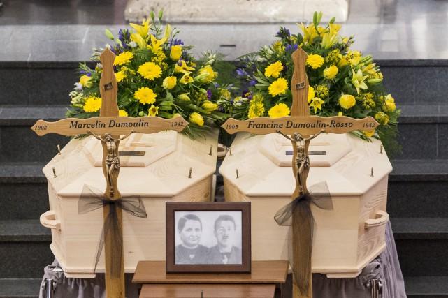 Les corps de Marcelin et Francine Dumoulin, disparus... (AP, Dominic Steinmann)