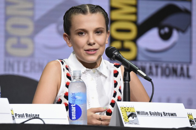 Millie Bobby Brown, interprète d'Eleven dans Stranger Things.... (Photo Richard Shotwell, Invision/AP)