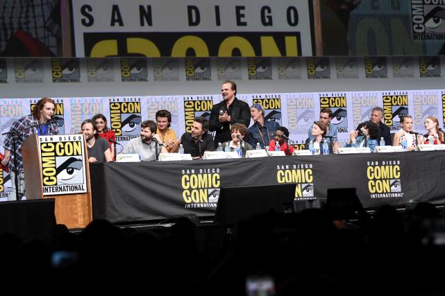 L'équipe de Stranger Things au Comic-Con de San... (AP, Richard Shotwell)