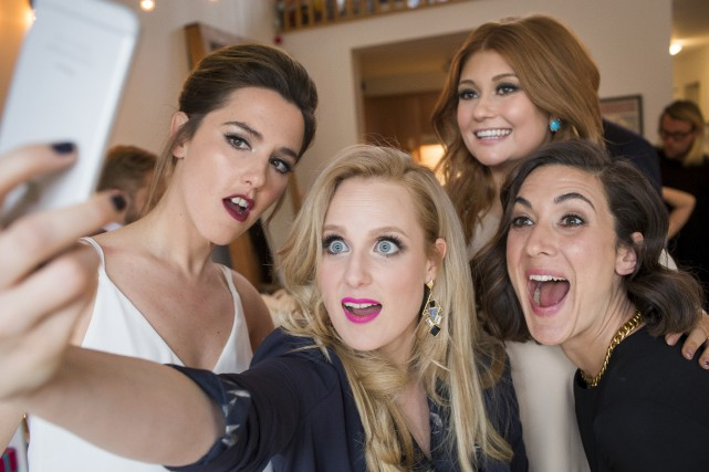 Marie-Soleil Dion avec les autres filles de Like-moi!,... (Archives, La Presse)