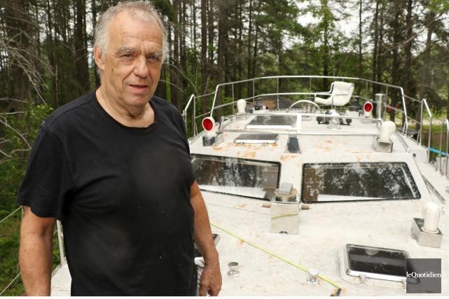 Gilles Moreau a décidé de construire un voilier... (Photo Le Quotidien, Yohann Gasse)