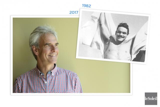 Robert Lachance, qui a remporté la 28eTraversée Internationale... (Infographie Le Soleil, photo archives Le Soleil et photo Le Soleil, Jean-Marie Villeneuve)