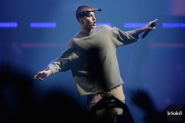 Justin Bieber lors de son passage à Québec... (Photothèque Le Soleil, Erick Labbé)