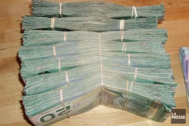 La composition des liasses d'argent saisies chez Stéphane... (Archives, La Presse)