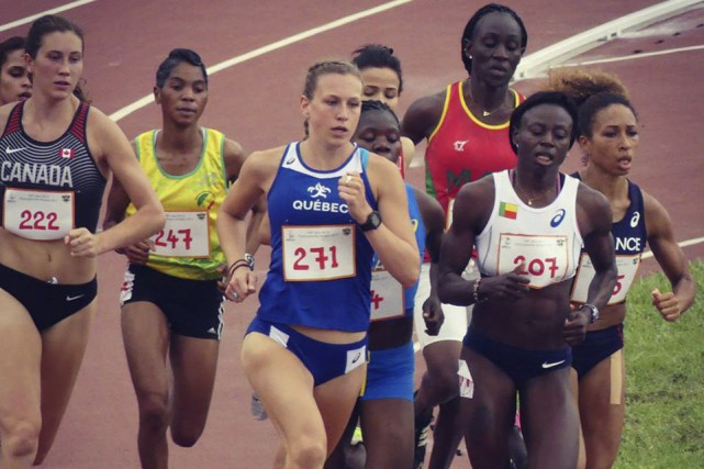 Maïté Bouchard (dossard 271) se disait fière de... (Photo Facebook Excellence sportive Sherbrooke)