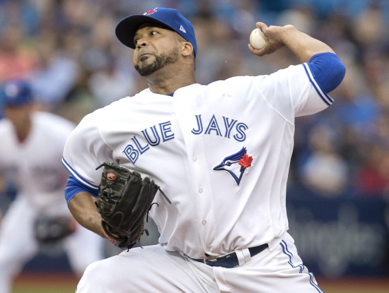 Le lanceur Francisco Liriano (6-5) a accordé deux points,... (La Presse canadienne, Fred Thornhill)