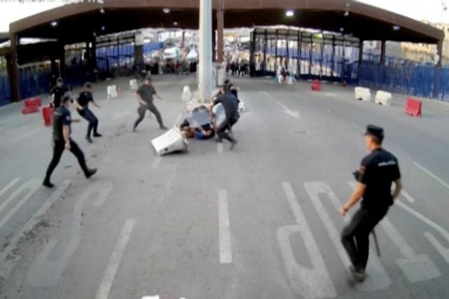 «La police a arrêté un homme qui a... (REUTERS)