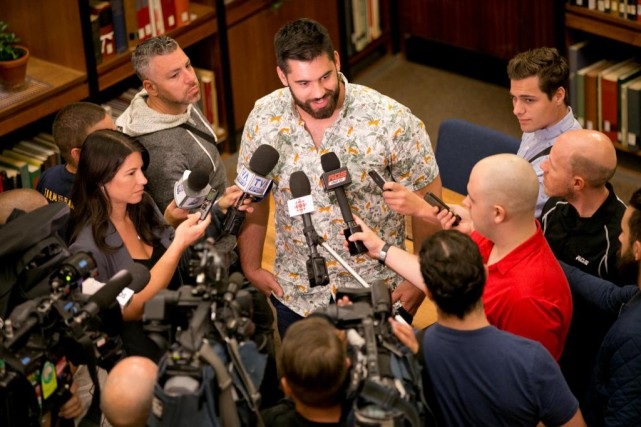 Laurent Duvernay-Tardif s'envole demain pour Kansas City, en... (PHOTO DAVID BOILY, LA PRESSE)