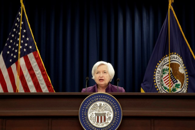 La présidente de la Fed, Janet Yellen, ne... (PHOTO ARCHIVES REUTERS)