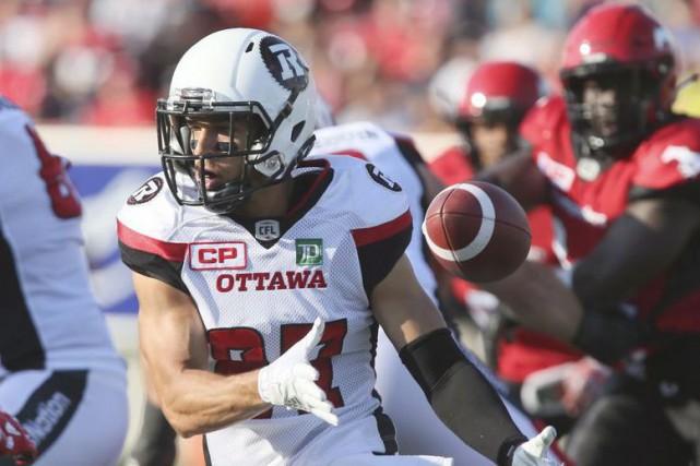 Joshua Stangby a capté 18 passes pour un... (Archives, La Presse canadienne)