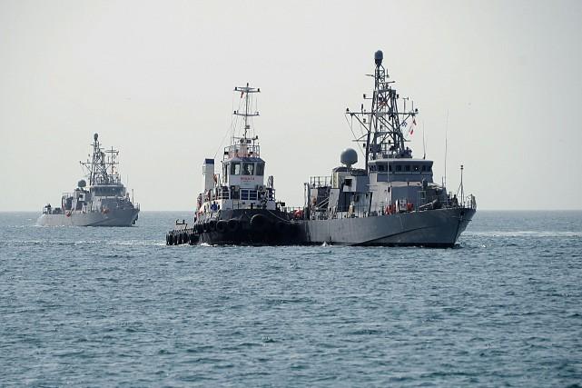 Dans le Golfe persique, un patrouilleur américain a... (Photo AFP)