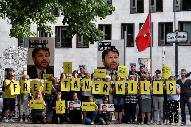 Le président d'Amnistie internationale en Turquie, Taner Kilic,... (Photo John MACDOUGALL. AFP)