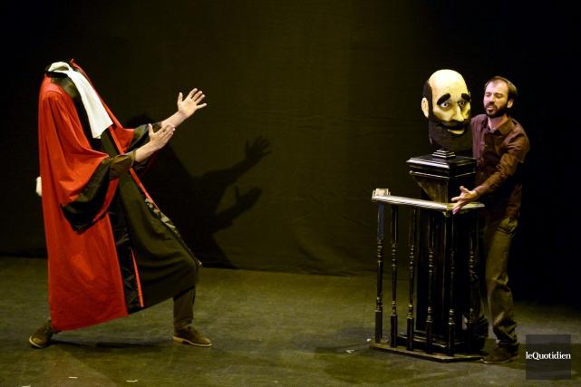 Cette scène un brin surréaliste provient de la... (Photo Le Quotidien, Jeannot Lévesque)