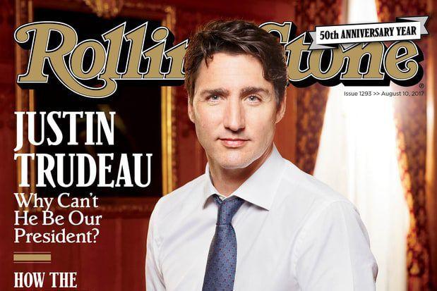 Le magazine Rolling Stone se demande pourquoi Justin Trudeau ne pourrait pas...