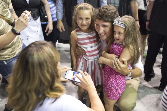 Justin Trudeaua dit être au Saguenay-Lac-Saint-Jean cette semaine... (Photo Jacques Boissinot, PC)