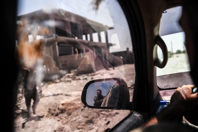 Les Forces démocratiques syriennes contrôlent maintenant 50% de... (PHOTO BULENT KILIC, AFP)