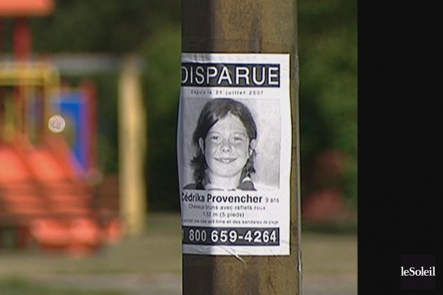 Les restes de Cédrika Provencher, disparue en 2007,... (Photothèque Le Soleil)