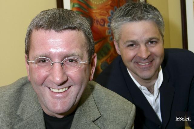 Régis Labeaume et Daniel Gélinas en 2004... (Photothèque Le Soleil)