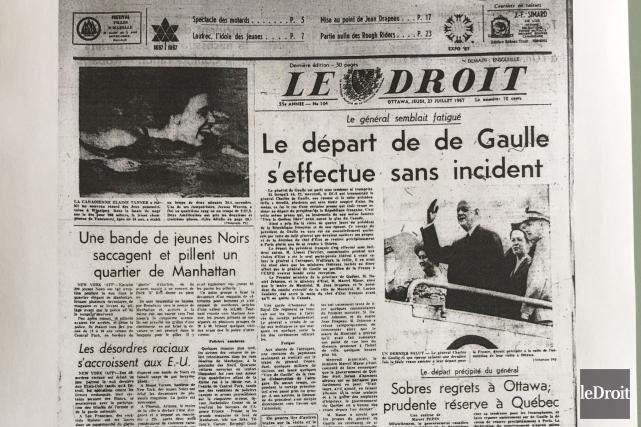CHRONIQUE / On recule une nouvelle fois dans le temps, en ce jeudi 27 juillet... (Archives, Le Droit)