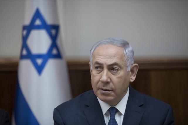 Le premier ministre israélienBenyamin Néthanyahou... (PHOTO Abir Sultan, AP)