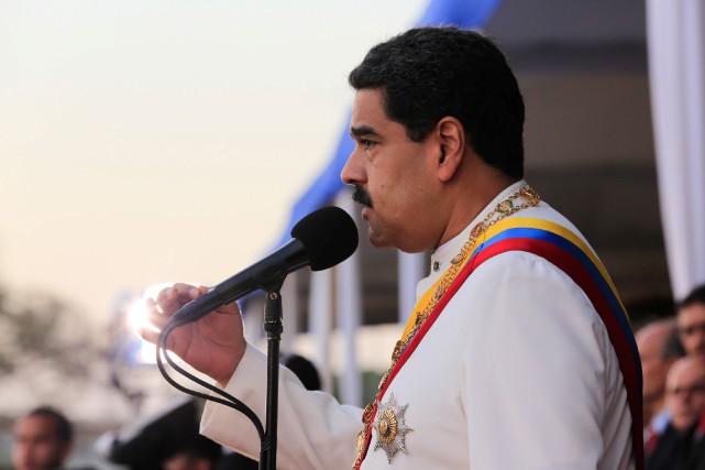 Le président vénézuélien, Nicolas Maduro... (PHOTO REUTERS/GOUVERNEMENT VÉNÉZUÉLIEN)