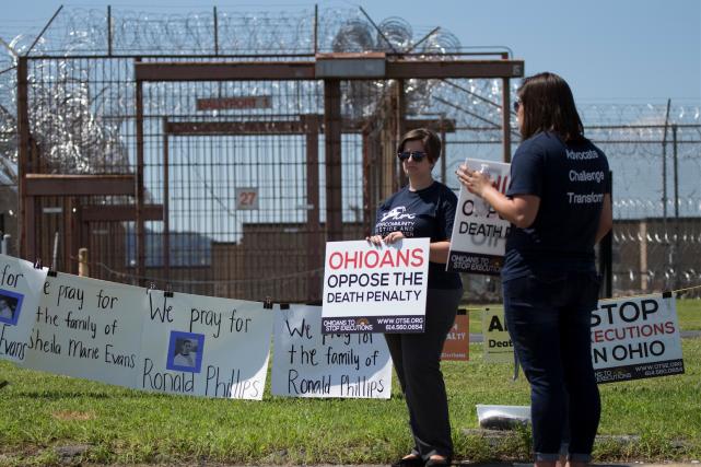 L'exécution de Ronald Phillips a donné lieu à... (AP, Adam Cairns/The Columbus Dispatch)