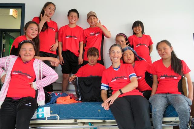 Depuis avril, une vingtaine de jeunes de Tasiujaq... (Fournie par Josée Martineau)