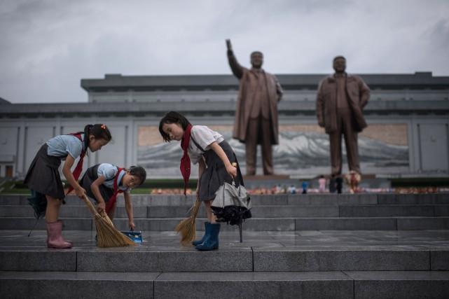 À Pyongyang, le jour était férié pour permettre... (AFP)