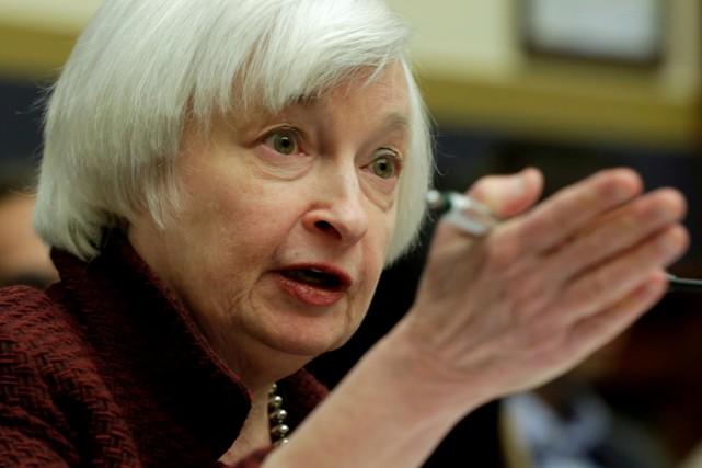 Le mandat de Janet Yellen, 70 ans, arrive... (REUTERS)