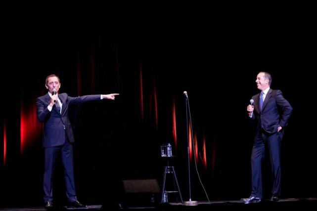 Gad Elmaleh et JerrySeinfeld se sont produits ensemble... (PHOTO SUSANMOSS, FOURNIE PAR JUST FOR LAUGHS)