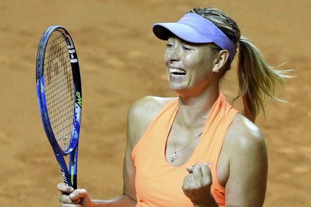 Maria Sharapova... (Photo Bernd Weissbrod, AP)