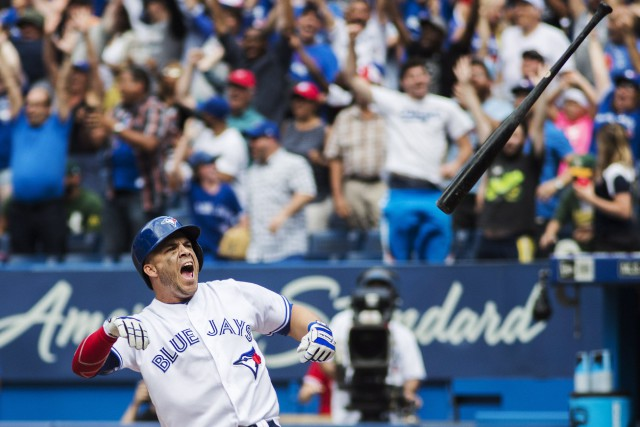 Steve Pearce a procuré la victoire aux Blue... (Photo Mark Blinch, PC)
