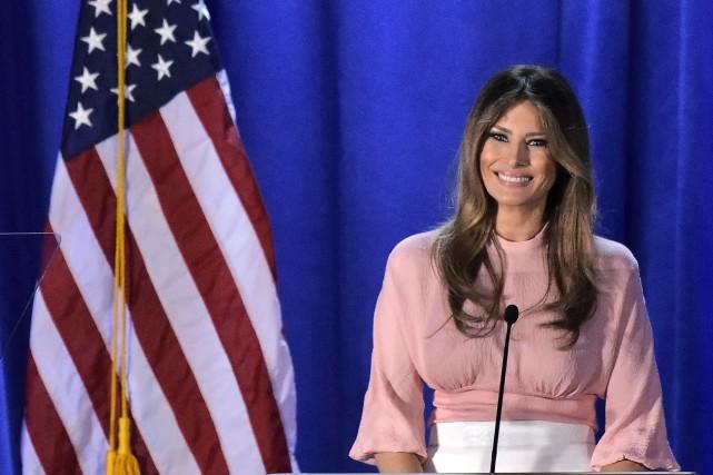 La Maison-Blanche a annoncé que MelaniaTrump dirigera la... (Photo MANDEL NGAN, archives AFP)