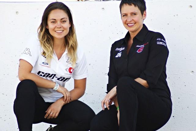 Alex Faucher (à gauche) et Jessica Ménard comptent... (Marie-Noëlle Lajoie)