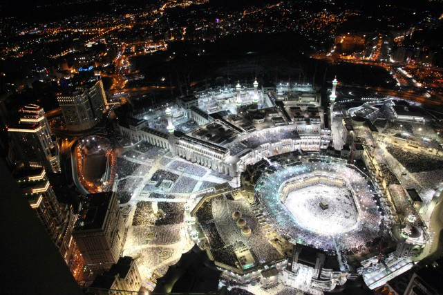 Image aérienne de la Grand mosquée de la... (Photo BANDAR ALDANDANI, AFP)