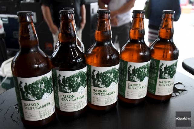 Une nouvelle bière a été lancée, jeudi, dans... (Le Quotidien, Michel Tremblay)