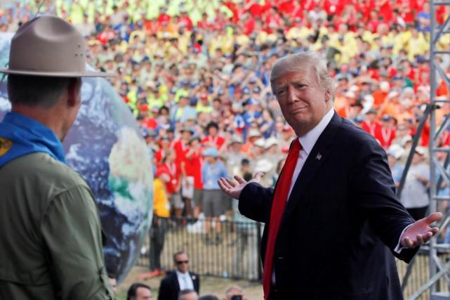 Le président américain Donald Trump a prononcé un... (Photo Carlos Barria, Reuters)
