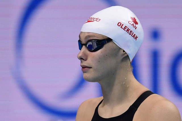 Penny Oleksiak... (Photo Martin Bureau, AFP)
