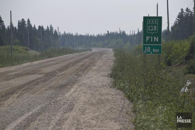 Le prolongement de la route 138, en Basse-Côte-Nord,... (Archives La Presse, Hugo-Sébastien Aubert)