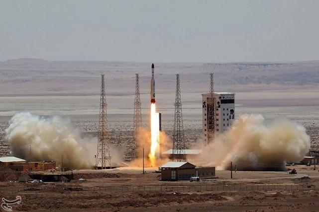 Téhéran a testé un lanceur de satellites, jeudi.... (Photo Reuters)
